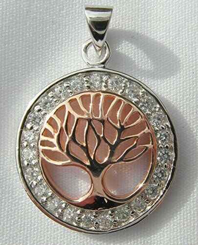 Sterling Silver 925  Tree Of Life In  Circle Pendant  ! Brand  New  !!