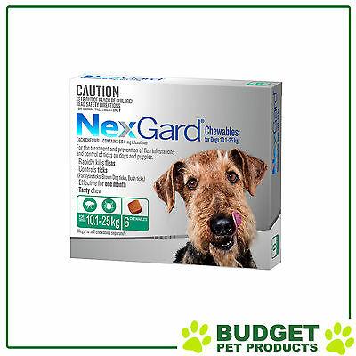 NEXGARD For Dogs Flea and Tick medication/treatment 6 chews All sizes
