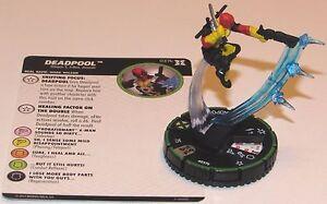 DEADPOOL 037B PRIME Deadpool and X-Force Marvel HeroClix Rare