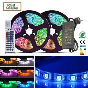 1m-30m-5050-LED-Stripe-RGB-Leiste-Streifen-Band-Mehrfarbig-Leuchte-Lichterkette