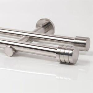 110-600cm-Vorhang-Gardinenstange-zweilaeufig-Edelstahl-Design-20mm-Zylinder-3