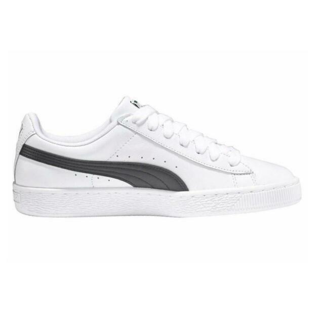 Size 8 - PUMA Basket Classic LFS White Black for sale online | eBay