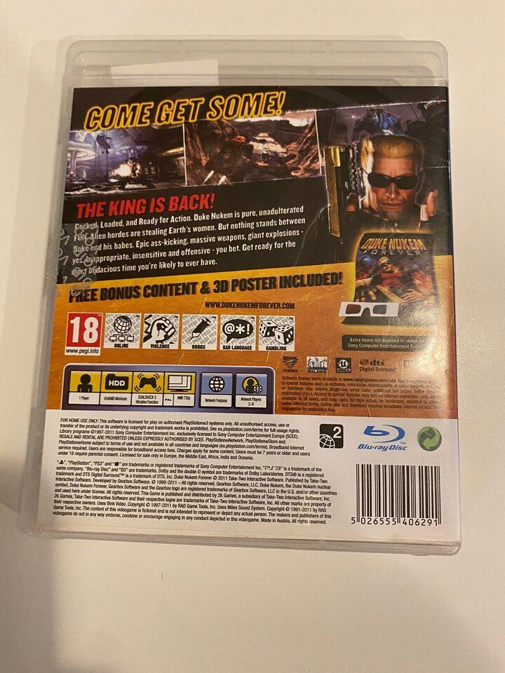 Duke Nukem Forever, PS3, action