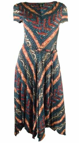 RALPH LAUREN Plus Größe Short-Sleeve Southwestern Print Dress Sz. 3X NWT