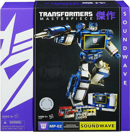 HASBRO Transformers Masterpiece MP-02 GENERATIONS SOUNDWAVE W  5X CASSETTES New