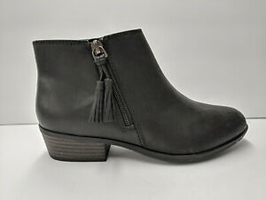 Details about Clarks Addiy Terri Fashion Boot, Black Leather, Womens 6
