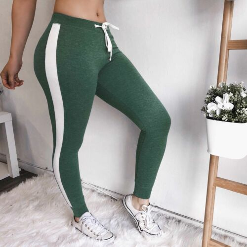 Womens Joggers Jogging Sports Pants Ladies Fitness Gym Slim Bottoms Trousers UK