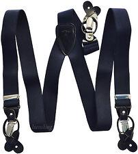 New in box Men/'s Suspender braces Aqua Green elastic clips buttons casual