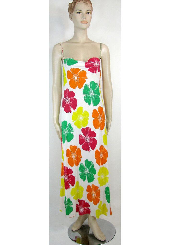 Gorgeous Sexy Silk Maxi Dress by KRIZIA  sz 40 NWT, Made in