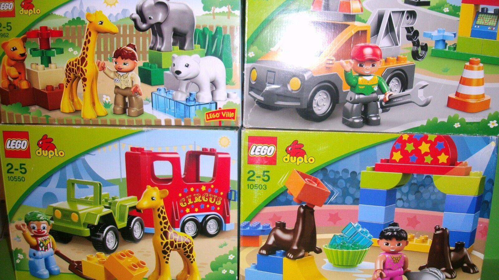 LEGO Duplo 4 4 4 Sets Komplett 10550,10503,4962,6146,Zirkustransporter,Seelöwen,... 37a2ef