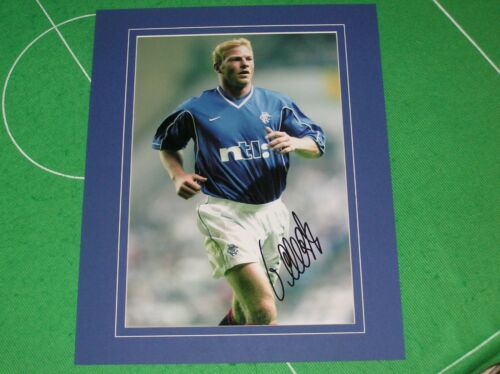 Glasgow Rangers Jorg Albertz Signed & Mounted Action Photograph