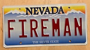 NEVADA-VANITY-LICENSE-PLATE-034-FIREMAN-034-FIRE-FIREFIGHTER-VOLUNTEER-IAFF-FLAMES