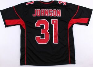 cheap for discount bc927 5a96f Details about David Johnson Signed Cardinals Jersey (JSA Hologram) Black &  Red Arizona jersey
