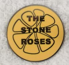 Stone Roses 'Lemon' Enamel Badge.Ian Brown,Primal Scream,Pretty Green,Tickets.