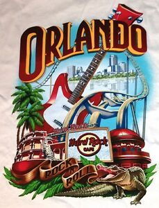 Hard-Rock-Cafe-ORLANDO-2014-White-City-Tee-T-SHIRT-Adult-LARGE-New-with-Tags