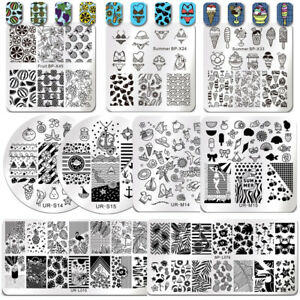 BORN-PRETTY-Nail-Art-Stamping-Plates-Image-Stamp-Template-Stencils-Summer-Theme