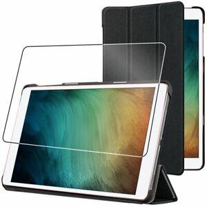 Housse Samsung Galaxy Tab S7 SM-T870 Coque Etui veille auto + VERRE Trempé, Noir