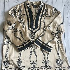 Lane Bryant Size 26/28 Plus Kimono Tunic Top Blouse Shirt V Neck Floral