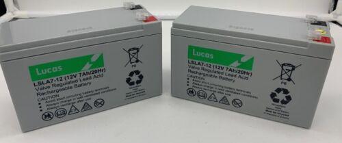 x Lucas 12V 7AH RAZOR E200 E200s E300 /& E325 BATTERIES SCOOTER Pair 2 NEW