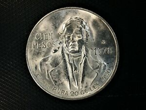 1978-Cein-100-Pesos-Mexico-Frosty-Gem-Uncirculated-Silver-0-6428-OZ