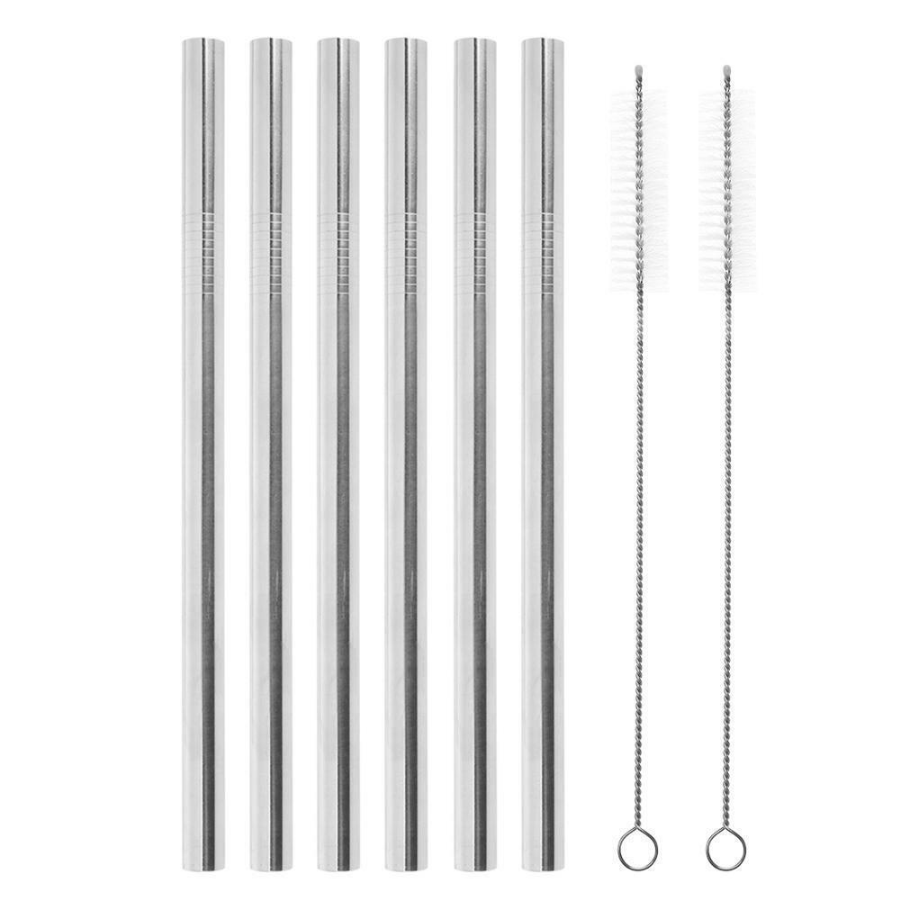 6pcs Straws 2pcs Brush 18*12mm