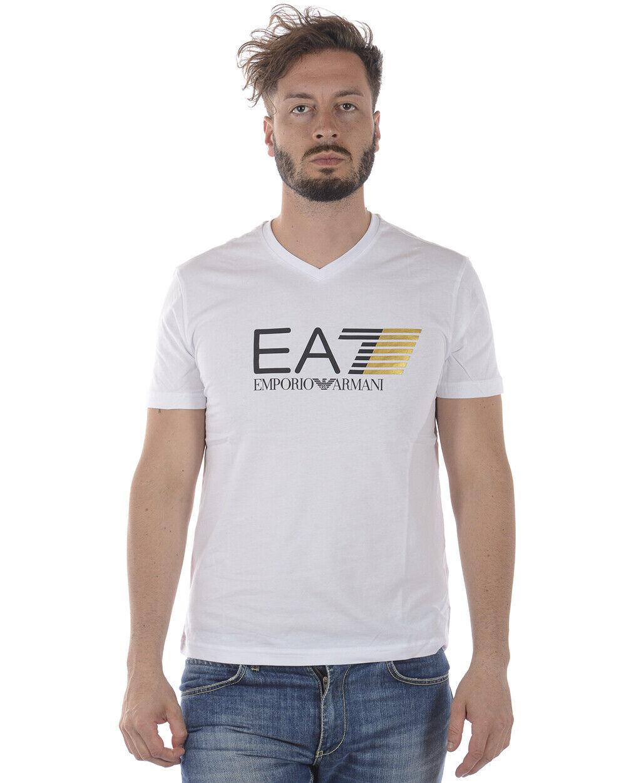 T shirt Maglietta Emporio Armani EA7 Sweatshirt Uomo Bianco 3ZPT61PJ02Z 1100