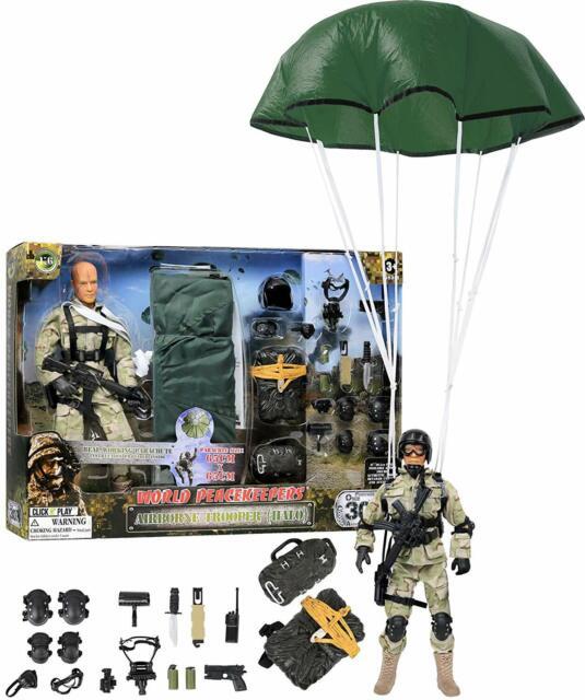 """Cliquez Sur N Play aventure militaire 12"""" Action Figure Play set Accessoires échelle 1:6"""