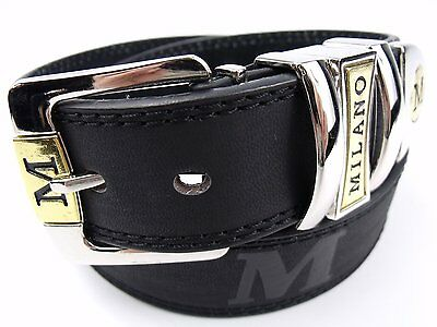 Mens High Quality Bonded Leather Belt with Silver Buckle and Silver Tip 37mm