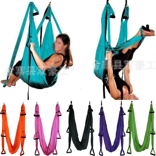 Flying Paracadute Yoga Pilates ANTENNA Amaca Altalena Trapezio antigravità Sling N