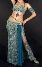 Verde Turquesa y profesionales Disfraz de danza del vientre