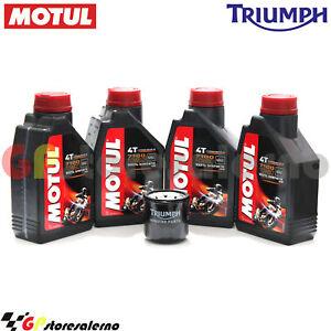 Kit Olio + Filtro Originale Motul 7100 10w60 4l Triumph 1050 Tiger Se Abs 2012
