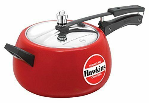 Hawkins 5 Ltrs Ceramic Coated Contura Pressure Cooker Free Ship GK