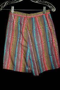 Vintage Deadstock 1960's Multi Coton Couleur Plaid Short Taille 24 Cm Avec Des MéThodes Traditionnelles