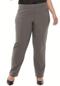 de8a36e656b Details about NEW Women s Apt. 9 Torie Straight Mid Rise Stretch Dress Pants  Plus Size