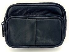 UNISEX REAL LEATHER COIN POUCH PURSE CAMERA WALLET POUCH WITH BELT LOOP 1474