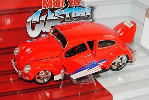 VW Escarabajo Volkswagen tuning rojo 1//24 maisto modelo coche con o sin individiuel