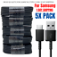 miniature 1 - 5Pack USB C Cable 4ft Fast Charger Lot For Samsung S8 S9 S10 Android Type C Cord