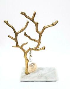 Handmade Gold Metal Tree Stand Genuine Onyx Marble Jewelry Hanger Holder Stand Ebay