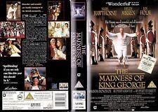 THE MADNESS OF KING GEORGE VHS PAL NIGEL HAWTHORNE,HELEN MIRREN,IAN HOLM RARE