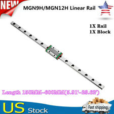 Mgn9hmgn12h Linear Sliding Guide Rail With Block 150 600mm Cnc 3d Printer Us