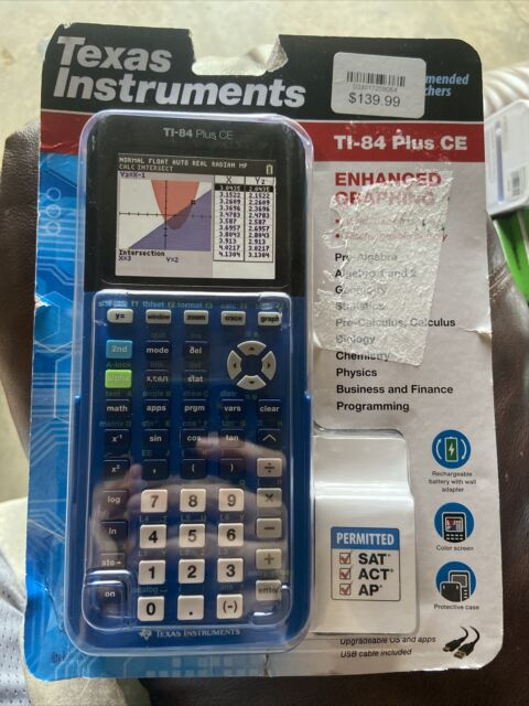 TI-84 Plus CE Graphing Calculator Texas Instruments BLUE 063