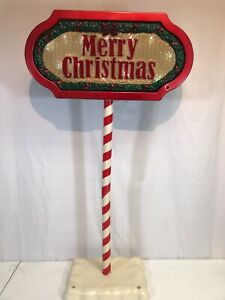 VINTAGE-HOLIDAY-LIGHTS-amp-MUSICAL-SIGN-Battery-Operated-WORKING