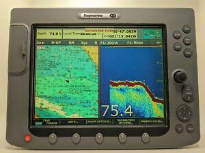 Raymarine E120 Classic Display Chart Plotter Fish Finder Radar Head Unit Ebay