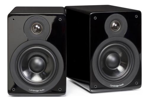 Cambridge Audio Minx XL Flagship Bücherregal Lautsprecher hochglanz schwarz