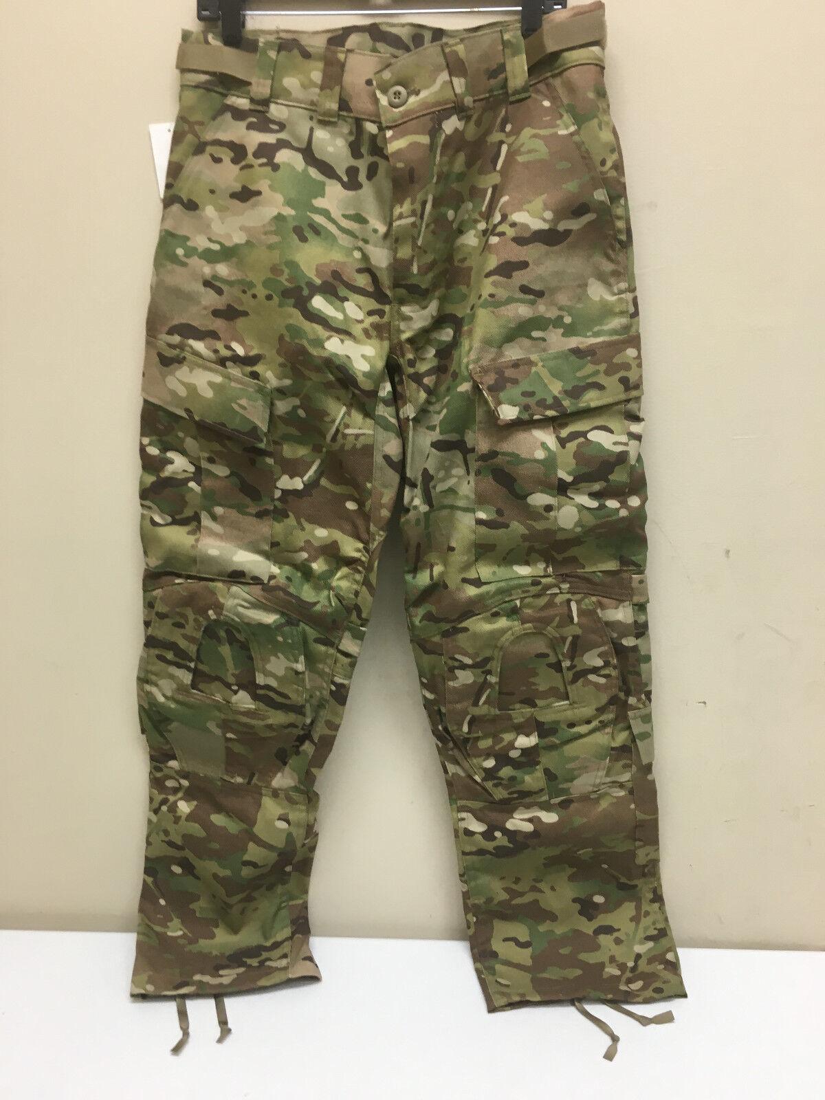 Pantalón de combate del Ejército Multicam resistentes al fuego con precisión Crye Almohadilla para la rodilla corte Mississippi nuevo con etiquetas