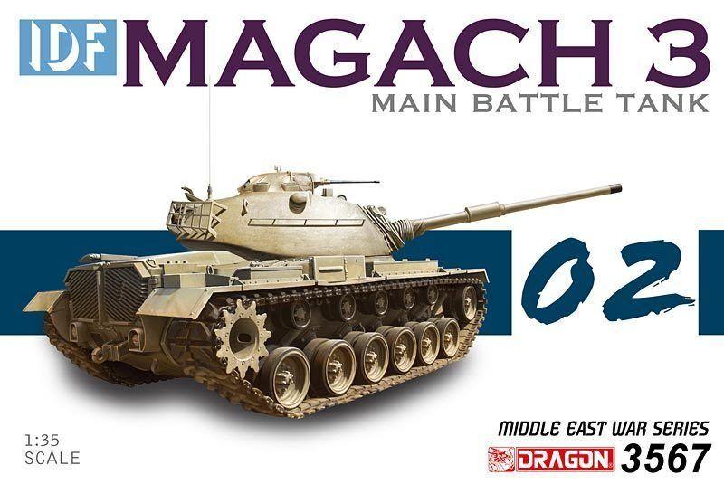 Dragon 1 3 5 3567  Carro Armato Idf Magach 3