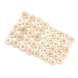 50pcs-Mixed-15-20mm-4-holes-Buttons-natural-Color-wood-button-sewing-accessories
