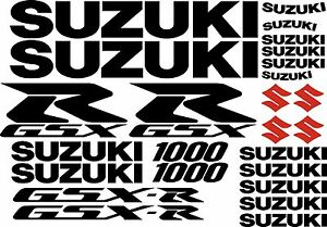 25 x Black  Red 1000 GSXR GSXR Decal Sticker Graphic Motorcycle Motorbike Set - Horley, United Kingdom - 25 x Black  Red 1000 GSXR GSXR Decal Sticker Graphic Motorcycle Motorbike Set - Horley, United Kingdom