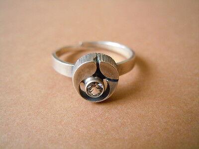 Fine Rings Cooperative 925 Sterling Silber Finland Designer Ring Bergkristall 2,0g/verstellbar Ab 54