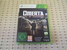 Omerta City of gánster para Xbox 360 xbox360 * embalaje original *